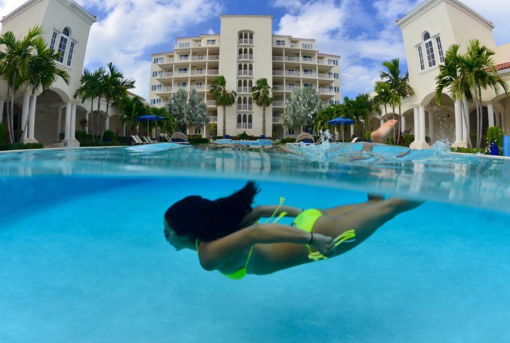 swimming pool lady