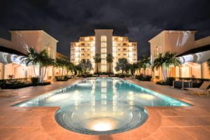 pool at night: the venetian on grace bay