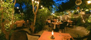 restaurant at night turks and caicos