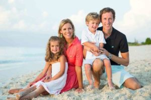family holiday on grace bay