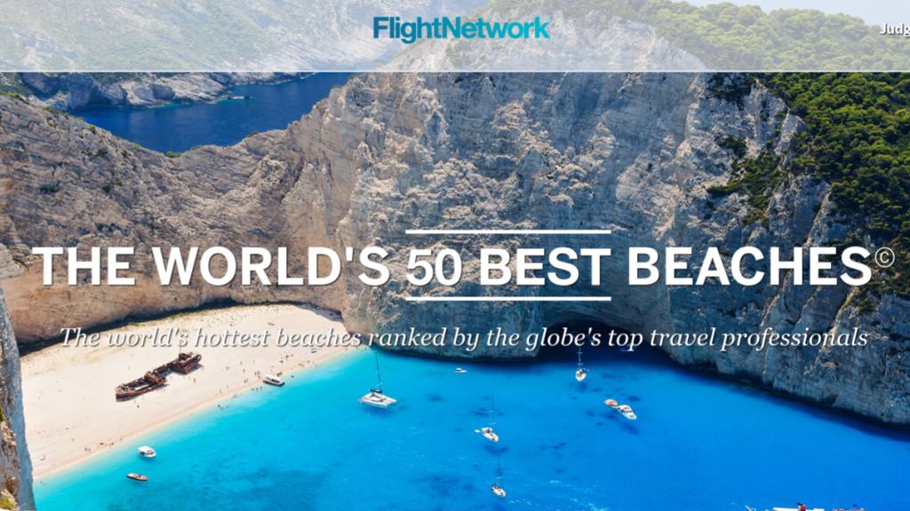 flight network: the world's best beaches