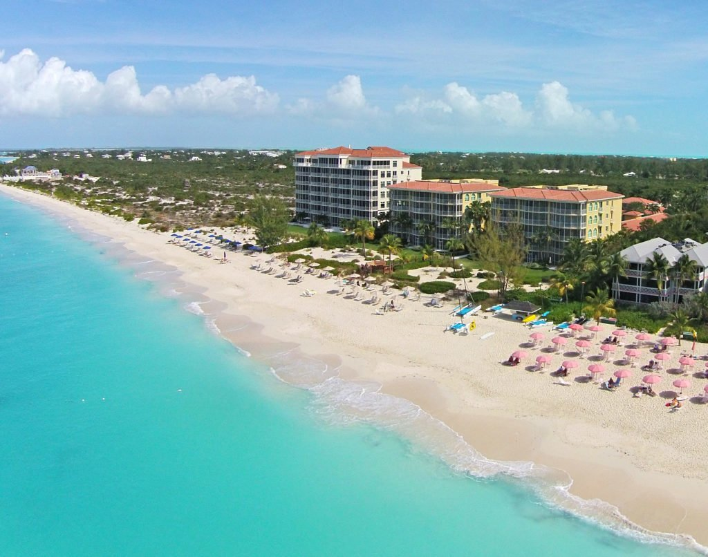 drone view grace bay turks and caicos