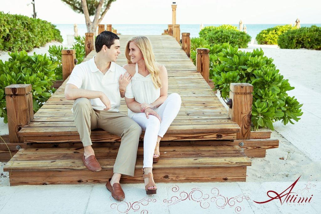Couple Photo: Attimi Photography - Getting Engaged at the Venetian on Grace Bay Beach