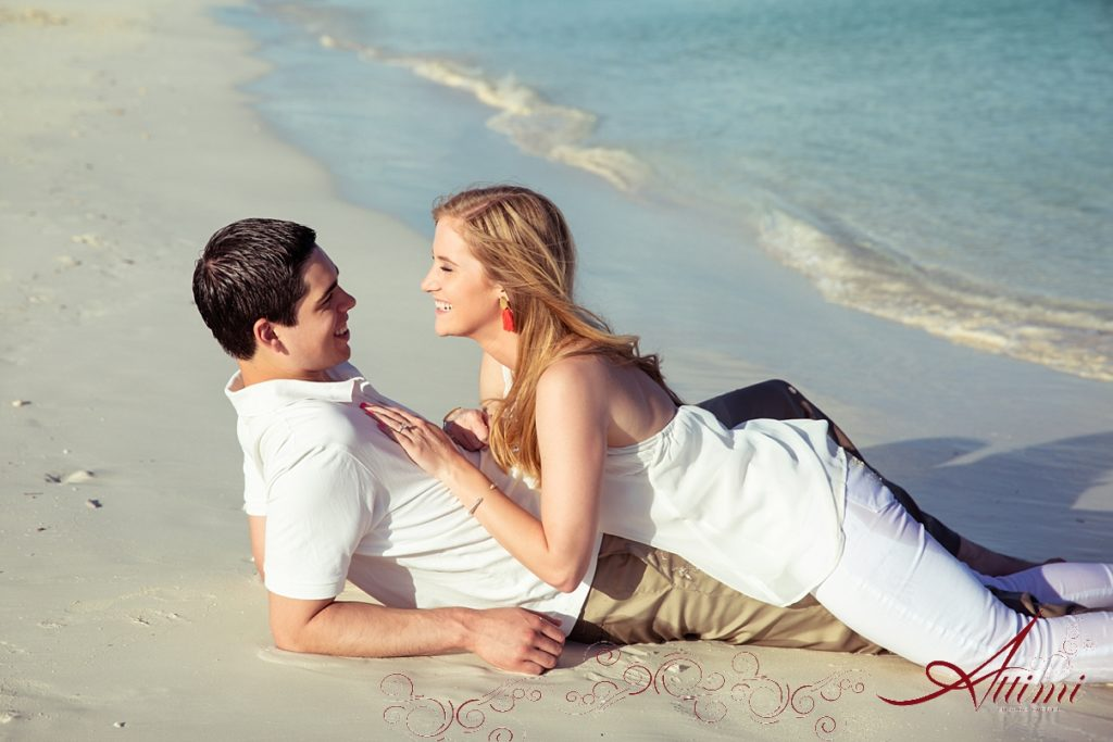 Sand: Attimi Photography - Getting Engaged at the Venetian on Grace Bay Beach