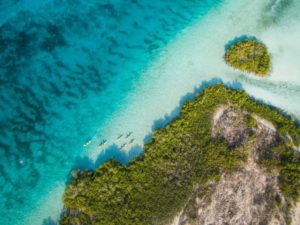 drone sky view turks and caicos