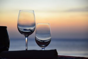 summer activity in turks and caicos: wine glasses