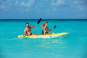 kayak summer activity in turks and caicos