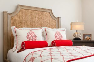 white red bed