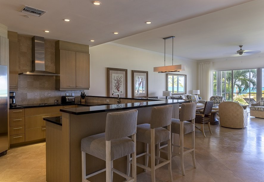 kitchen: two bedroom ocean front suite