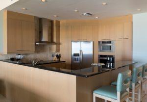 kitchen one bedroom oceanfront suite