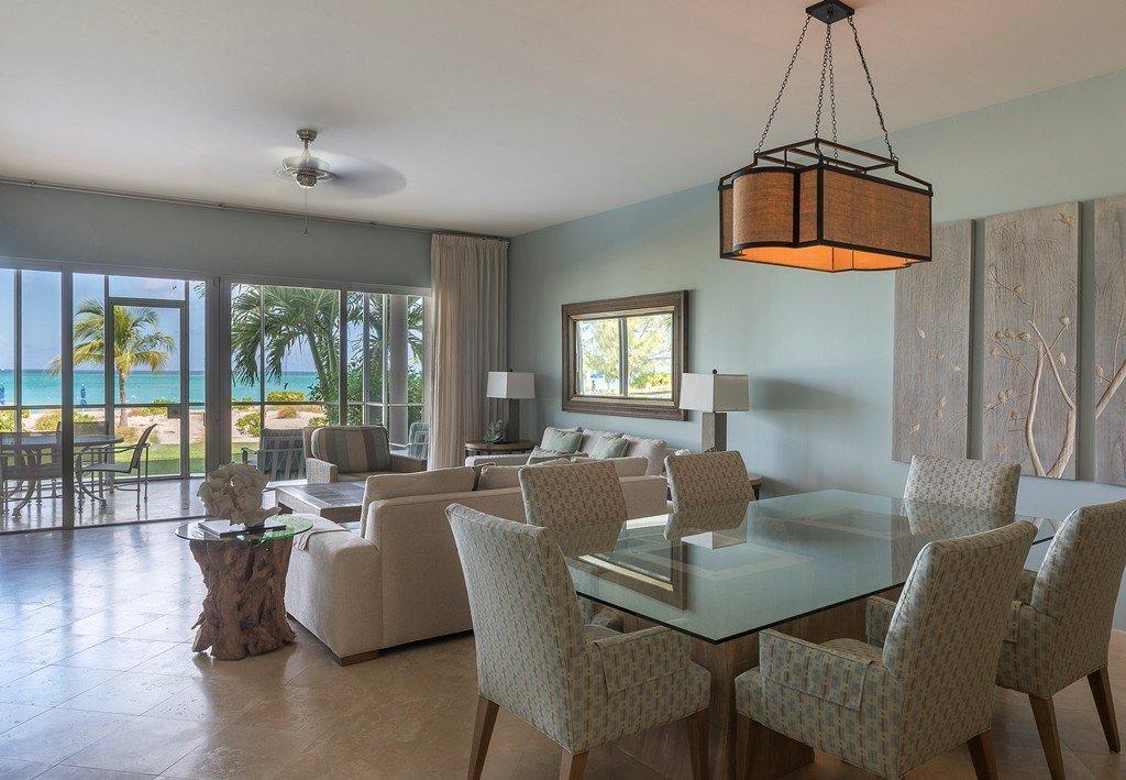 ocean front furnished living room