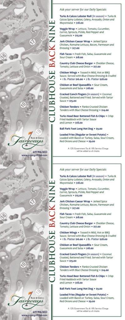 fairways menu